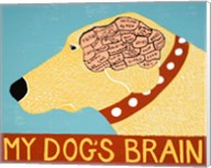 My Dogs Brain Yellow Fine-Art Print