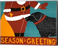Seasons Greetings Black Fine-Art Print