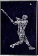 Type Baseball Blue Fine-Art Print