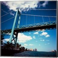 Ambassador Bridge, Detroit River, Michigan Fine-Art Print