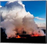 Volcano Eruption at the Holuhraun Fissure, Bardarbunga Volcano, Iceland. Fine-Art Print