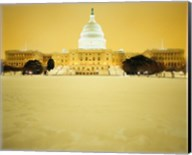 US Capitol Building during Snow Storm, Washington DC Fine-Art Print