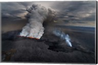 Lava and Plumes from the Holuhraun Fissure, Iceland Fine-Art Print