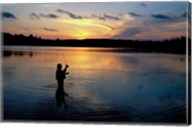 Fly Fisherman, Mauthe Lake, Kettle Moraine State Forest Fine-Art Print