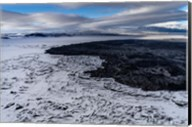 Lava and Snow at the Holuhraun Fissure, Bardarbunga Volcano, Iceland. Fine-Art Print