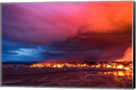 Glowing Lava and Skies at the Holuhraun Fissure, Iceland Fine-Art Print