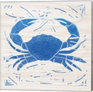 Sea Creature Crab Blue Fine-Art Print