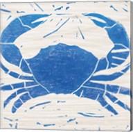 Sea Creature Crab Blue Fine-Art Print