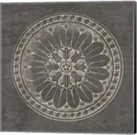 Rosette I Gray Fine-Art Print