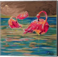 Trio Flamingos Fine-Art Print