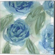 Blue Green Roses I Fine-Art Print