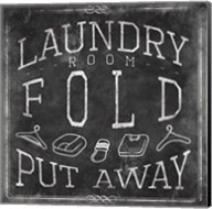 Chalkboard Laundry Mate Fine-Art Print
