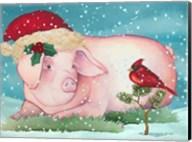Christmas Pig And Friend Fine-Art Print
