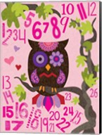 Owl Set Numlet Pinks 2 Fine-Art Print