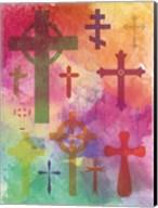 Watercolor Cross 1 Fine-Art Print
