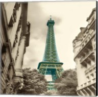 Teal Eiffel Tower 2 Fine-Art Print