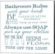 Bathroom Rules White Fine-Art Print