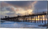 Sunset Through Oceanside Pier Fine-Art Print