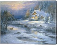Winter Cottage Fine-Art Print