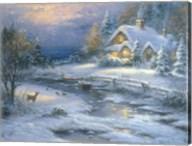 Winter Cottage Fine-Art Print