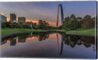 Gateway Arch Reflection Sunset Fine-Art Print