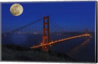 Golden Gate Bridge Full Moon Fine-Art Print