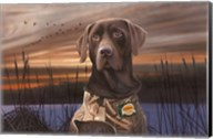 Chocolate Lab In The Sunset Fine-Art Print