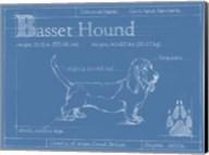Blueprint Basset Hound Fine-Art Print