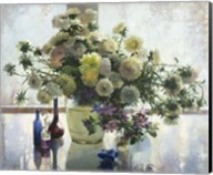 Chrysanthemums on a Glass Table Fine-Art Print
