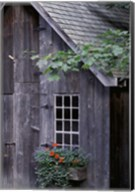 White Window on an Old Wooden House Fine-Art Print