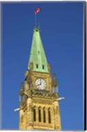 Clock Tower with Canadian Flag Fine-Art Print