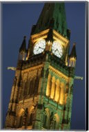Watch Tower in London at Night Fine-Art Print