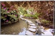 Stepping Stones at Butchart Gardens #2, Victoria, B.C. 09 Fine-Art Print