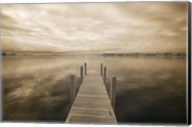 Dock at Crooked Lake, Conway, Michigan 09 Fine-Art Print