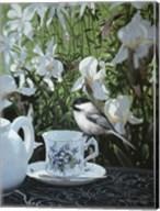 Chickadee And Teacup Fine-Art Print