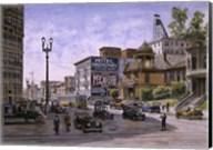 Los Angeles,  Temple & Broadway Fine-Art Print