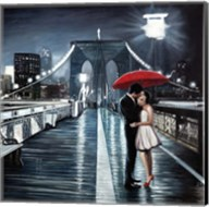 Kissing on Brooklyn Bridge Fine-Art Print