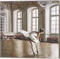 Rehearsing Ballerina Fine-Art Print