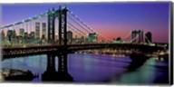 Manhattan Bridge and Skyline (detail) Fine-Art Print