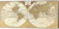 Gilded World Hemispheres I Fine-Art Print