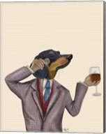 Dachshund Wine Snob Fine-Art Print