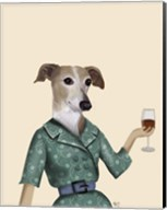 Greyhound Wine Snob Fine-Art Print