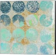 Aqua Circles II Fine-Art Print