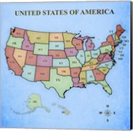 Map of the United States Fine-Art Print