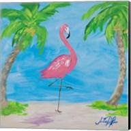 Fancy Flamingos I Fine-Art Print