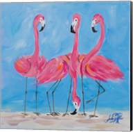 Fancy Flamingos II Fine-Art Print