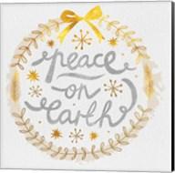 White Christmas Wreath VI Fine-Art Print