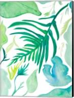 Green Water Leaves I Fine-Art Print