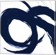 Navy Circular Strokes II Fine-Art Print