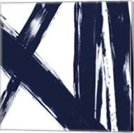 Strokes in Navy II Fine-Art Print